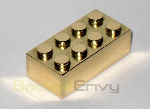14k Solid Gold LEGO Employee Brick 2x4 Brick