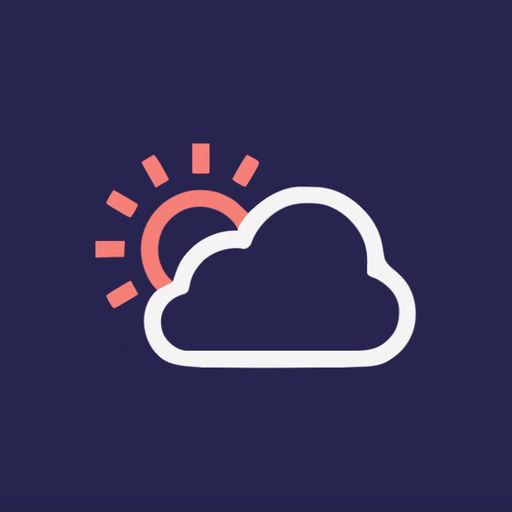 【iOS APP】Material Weather 帶有淡淡藝術氣息的剪貼畫氣象軟體