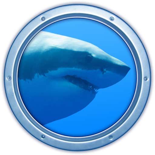【Mac OS APP】Sharks 3D 虛擬鯊魚桌布