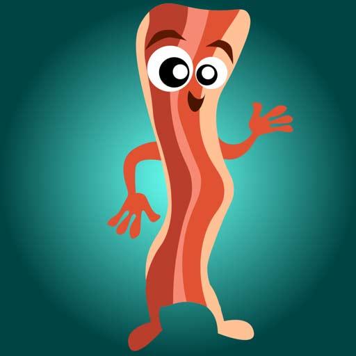 【iOS APP】BaconMoji bacon emoji stickers 培根先生  iMessage 貼圖包