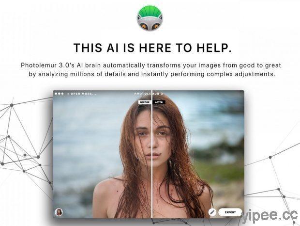 【限時免費】現省 NT$ 1000 元!全自動 AI 智慧修圖工具 Photolemur 3,Windows 和 Mac 都可以使用!