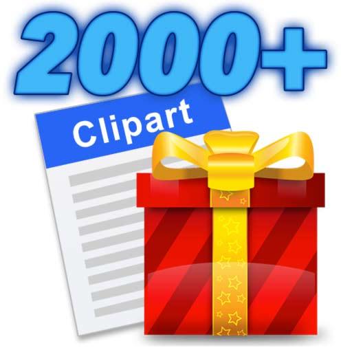 【Mac OS APP】Clipart 2000+ 高解析度插圖收集簿