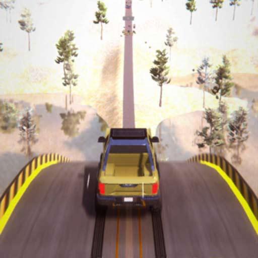 【iOS APP】Mega Ramp Stunt Crash Games 3D 不可能的天空賽車軌道~巨型坡道特技遊戲